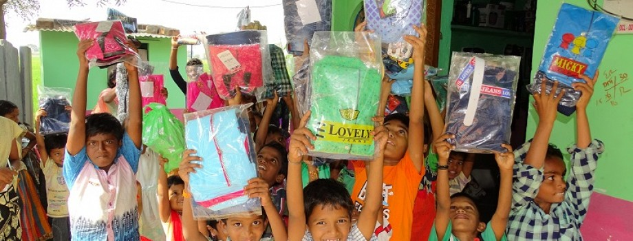 Clothes Distribution to Rural Poor Children